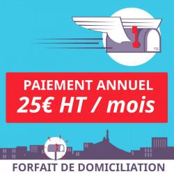 Prolongement 1 an de votre forfait de Domiciliation à Marseille 5ème