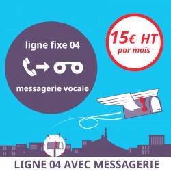 1 mois d'Attribution d'une ligne fixe en 04 avec messagerie vocale