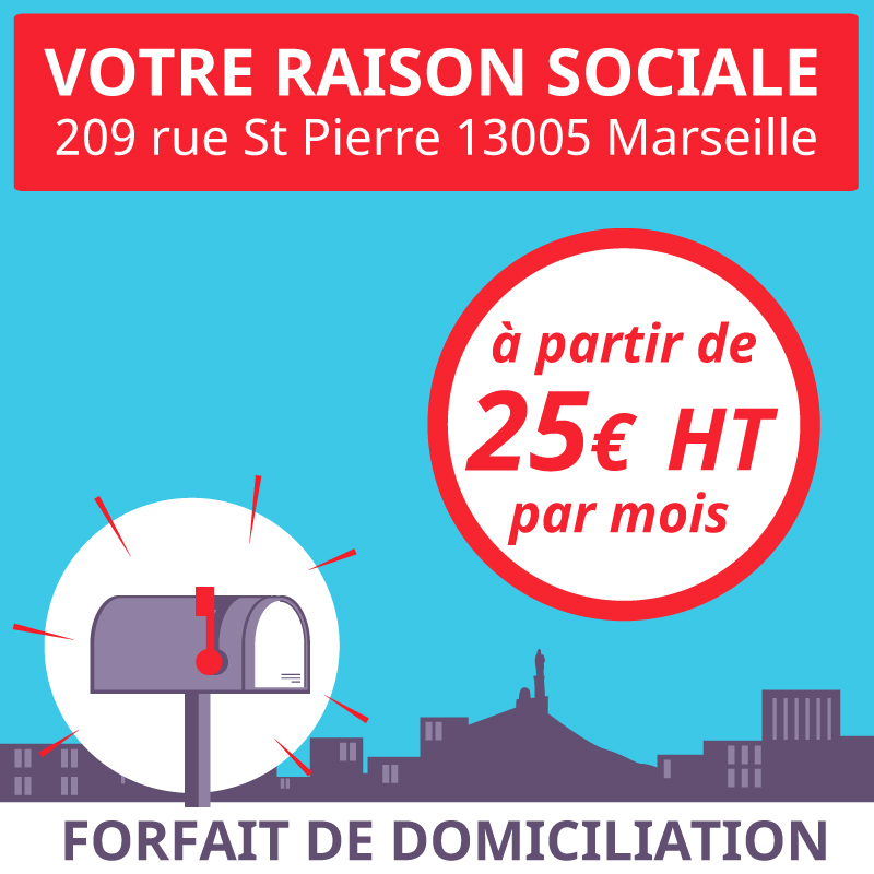Service pour ouvrir en ligne une domiciliation pour une entreprise ou une association à Marseille 5ème